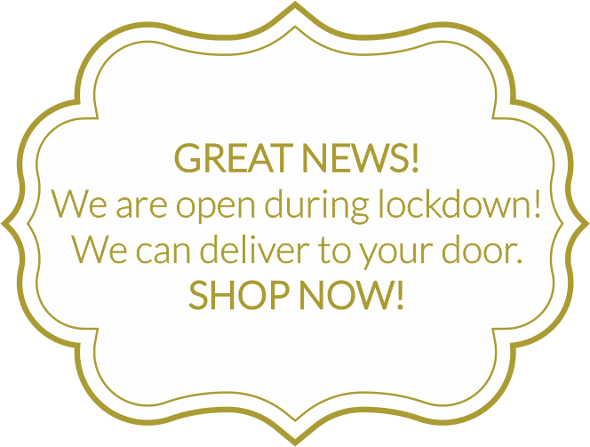 Great News! We are Open, SHOP NOW!